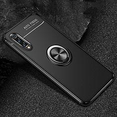 Custodia Silicone Ultra Sottile Morbida Cover con Magnetico Anello Supporto per Xiaomi Mi 9 Pro Nero