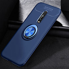 Custodia Silicone Ultra Sottile Morbida Cover con Magnetico Anello Supporto per Xiaomi Mi 9T Blu