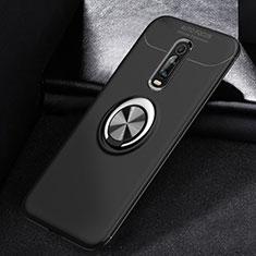 Custodia Silicone Ultra Sottile Morbida Cover con Magnetico Anello Supporto per Xiaomi Mi 9T Nero