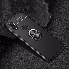 Custodia Silicone Ultra Sottile Morbida Cover con Magnetico Anello Supporto per Xiaomi Redmi Note 7 Nero