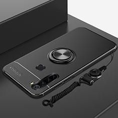 Custodia Silicone Ultra Sottile Morbida Cover con Magnetico Anello Supporto per Xiaomi Redmi Note 8 Nero