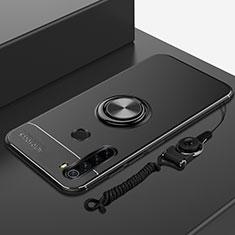 Custodia Silicone Ultra Sottile Morbida Cover con Magnetico Anello Supporto per Xiaomi Redmi Note 8T Nero