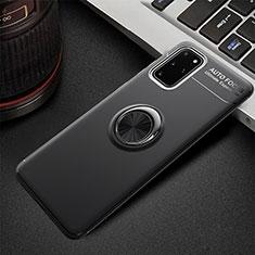 Custodia Silicone Ultra Sottile Morbida Cover con Magnetico Anello Supporto T01 per Samsung Galaxy S20 Plus 5G Nero