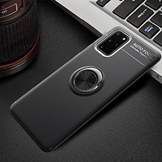 Custodia Silicone Ultra Sottile Morbida Cover con Magnetico Anello Supporto T01 per Samsung Galaxy S20 Plus Nero