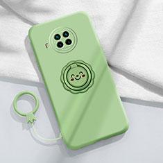 Custodia Silicone Ultra Sottile Morbida Cover con Magnetico Anello Supporto T01 per Xiaomi Mi 10T Lite 5G Verde Pastello