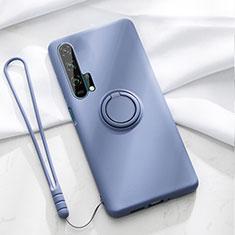 Custodia Silicone Ultra Sottile Morbida Cover con Magnetico Anello Supporto T02 per Huawei Honor 20 Pro Blu