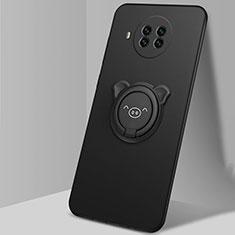 Custodia Silicone Ultra Sottile Morbida Cover con Magnetico Anello Supporto T03 per Xiaomi Mi 10T Lite 5G Nero