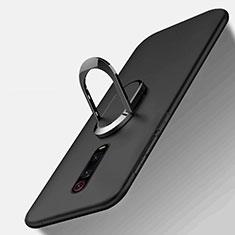 Custodia Silicone Ultra Sottile Morbida Cover con Magnetico Anello Supporto T03 per Xiaomi Mi 9T Pro Nero