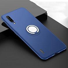 Custodia Silicone Ultra Sottile Morbida Cover con Magnetico Anello Supporto T05 per Xiaomi Mi A3 Blu