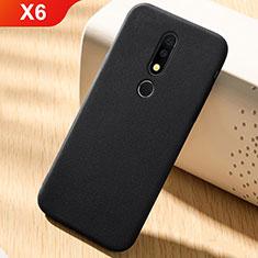 Custodia Silicone Ultra Sottile Morbida Cover Fronte e Retro 360 Gradi per Nokia X6 Nero