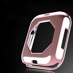 Custodia Silicone Ultra Sottile Morbida Cover S01 per Apple iWatch 4 40mm Oro Rosa