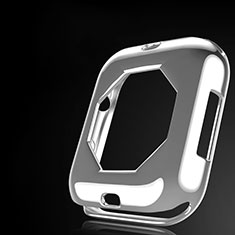 Custodia Silicone Ultra Sottile Morbida Cover S01 per Apple iWatch 4 44mm Chiaro