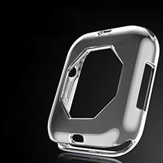 Custodia Silicone Ultra Sottile Morbida Cover S01 per Apple iWatch 4 44mm Grigio