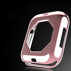 Custodia Silicone Ultra Sottile Morbida Cover S01 per Apple iWatch 4 44mm Oro Rosa