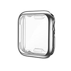 Custodia Silicone Ultra Sottile Morbida Cover S01 per Apple iWatch 5 44mm Argento