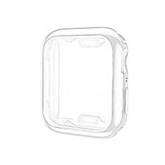 Custodia Silicone Ultra Sottile Morbida Cover S01 per Apple iWatch 5 44mm Chiaro