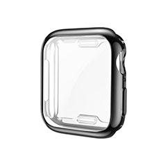 Custodia Silicone Ultra Sottile Morbida Cover S01 per Apple iWatch 5 44mm Nero