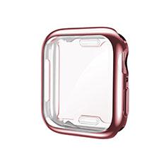Custodia Silicone Ultra Sottile Morbida Cover S01 per Apple iWatch 5 44mm Oro Rosa