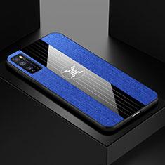 Custodia Silicone Ultra Sottile Morbida Cover S01 per Huawei Enjoy 20 Pro 5G Blu