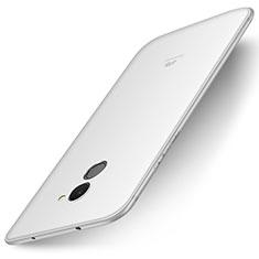 Custodia Silicone Ultra Sottile Morbida Cover S01 per Huawei Enjoy 7 Plus Bianco