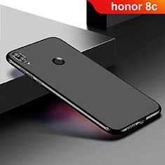 Custodia Silicone Ultra Sottile Morbida Cover S01 per Huawei Honor Play 8C Nero