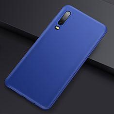 Custodia Silicone Ultra Sottile Morbida Cover S01 per Huawei P30 Blu