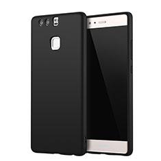 Custodia Silicone Ultra Sottile Morbida Cover S01 per Huawei P9 Plus Nero