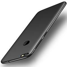 Custodia Silicone Ultra Sottile Morbida Cover S01 per Huawei Y6 Pro (2017) Nero