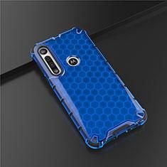 Custodia Silicone Ultra Sottile Morbida Cover S01 per Motorola Moto G8 Play Blu