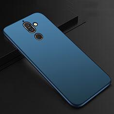 Custodia Silicone Ultra Sottile Morbida Cover S01 per Nokia 7 Plus Blu