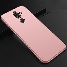 Custodia Silicone Ultra Sottile Morbida Cover S01 per Nokia 7 Plus Oro Rosa