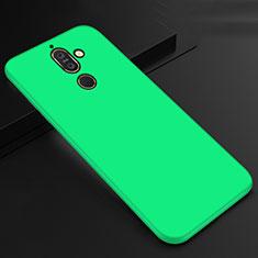 Custodia Silicone Ultra Sottile Morbida Cover S01 per Nokia 7 Plus Verde