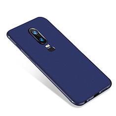Custodia Silicone Ultra Sottile Morbida Cover S01 per OnePlus 6 Blu