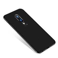 Custodia Silicone Ultra Sottile Morbida Cover S01 per OnePlus 6 Nero
