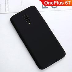 Custodia Silicone Ultra Sottile Morbida Cover S01 per OnePlus 6T Nero
