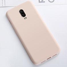 Custodia Silicone Ultra Sottile Morbida Cover S01 per OnePlus 6T Oro