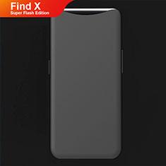 Custodia Silicone Ultra Sottile Morbida Cover S01 per Oppo Find X Super Flash Edition Nero