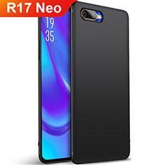 Custodia Silicone Ultra Sottile Morbida Cover S01 per Oppo R17 Neo Nero
