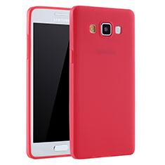 Custodia Silicone Ultra Sottile Morbida Cover S01 per Samsung Galaxy A7 Duos SM-A700F A700FD Rosso