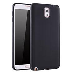 Custodia Silicone Ultra Sottile Morbida Cover S01 per Samsung Galaxy Note 3 N9000 Nero