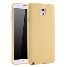 Custodia Silicone Ultra Sottile Morbida Cover S01 per Samsung Galaxy Note 3 N9000 Oro