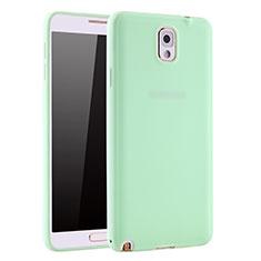 Custodia Silicone Ultra Sottile Morbida Cover S01 per Samsung Galaxy Note 3 N9000 Verde