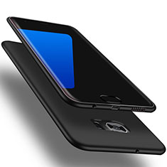 Custodia Silicone Ultra Sottile Morbida Cover S01 per Samsung Galaxy S7 Edge G935F Nero
