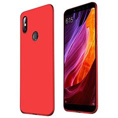 Custodia Silicone Ultra Sottile Morbida Cover S01 per Xiaomi Mi Max 3 Rosso