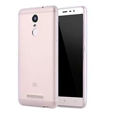 Custodia Silicone Ultra Sottile Morbida Cover S01 per Xiaomi Redmi Note 3 Pro Chiaro