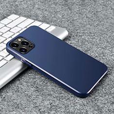 Custodia Silicone Ultra Sottile Morbida Cover S02 per Apple iPhone 12 Pro Max Blu