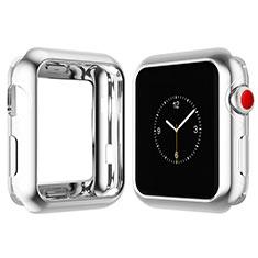 Custodia Silicone Ultra Sottile Morbida Cover S02 per Apple iWatch 4 40mm Argento