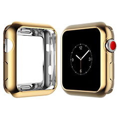 Custodia Silicone Ultra Sottile Morbida Cover S02 per Apple iWatch 4 40mm Oro