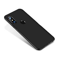 Custodia Silicone Ultra Sottile Morbida Cover S02 per Xiaomi Redmi Note 5 AI Dual Camera Nero
