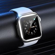 Custodia Silicone Ultra Sottile Morbida Cover S03 per Apple iWatch 4 40mm Argento
